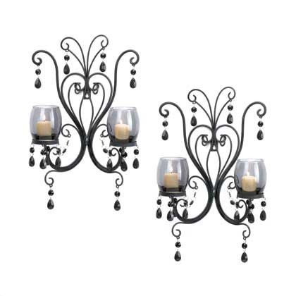 Midnight Elegance Candle Wall Sconces ...