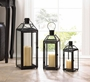 Midtown Small Black Lantern