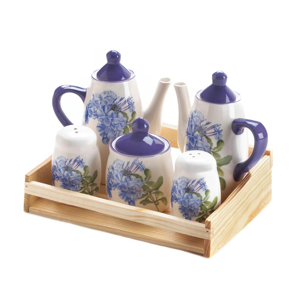 Mini dolomite tea set wholesale at koehler home decor - Sullivans wholesale home decor set ...