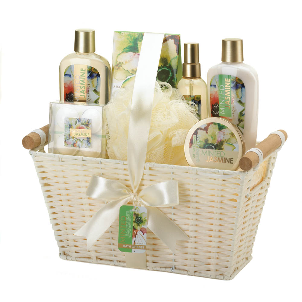 Minted Jasmine Spa GIFT BASKET. Wholesale Gift Basket now available at Wholesale Central   Items 1
