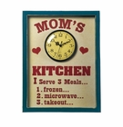 Moms Kitchen Clock Sign