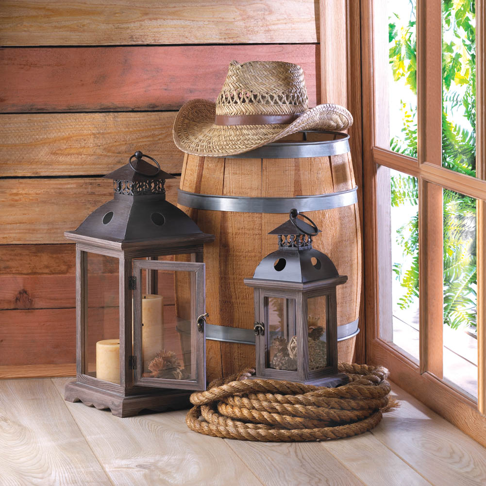 Monticello wood lantern at koehler home decor for Koehler home decor