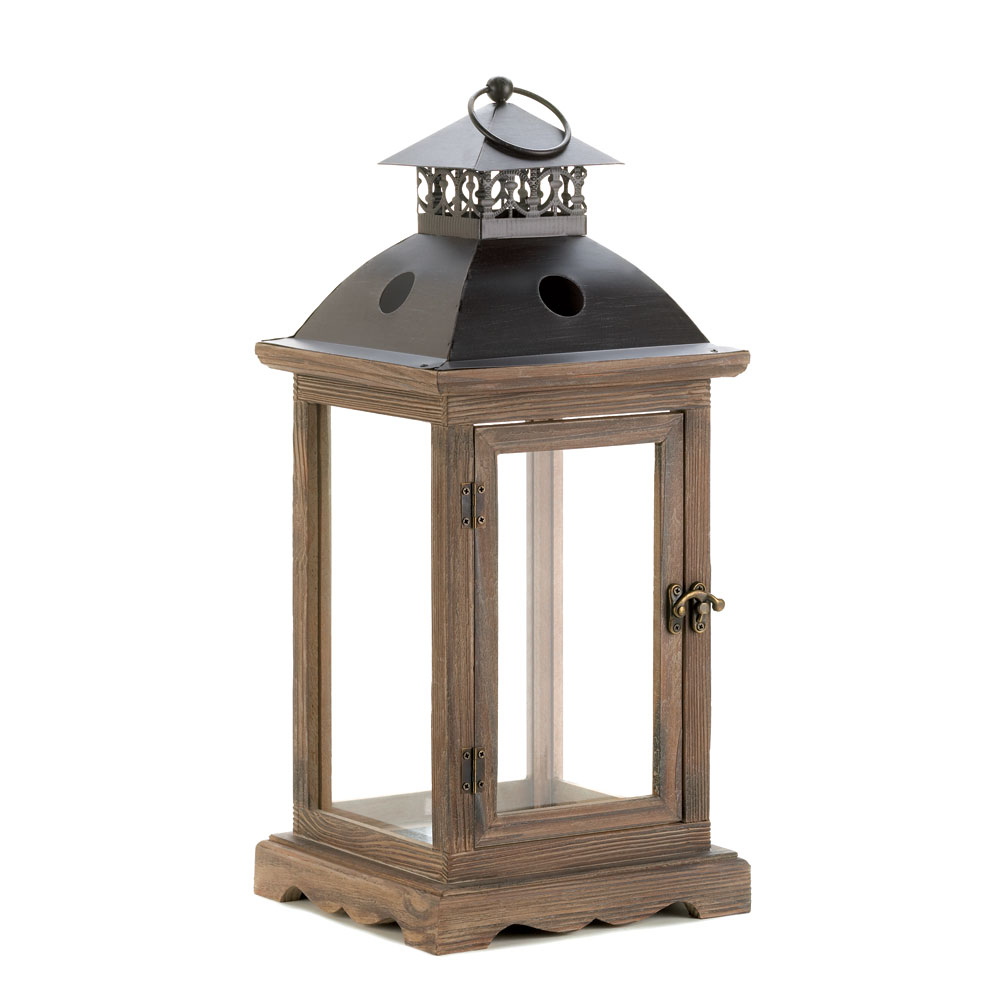 Monticello wood lantern l at koehler home decor for House of decorative accessories