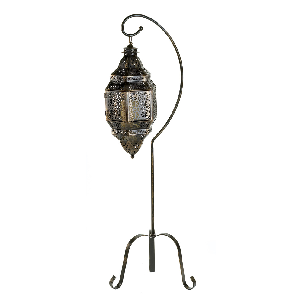 Outdoor Hanging Lanterns With Stand: Moroccan Candle Lantern Stand Wholesale At Koehler Home Decor