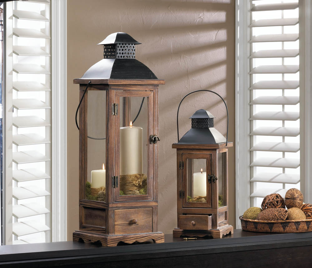 Large mount vernon wooden lantern wholesale at koehler for Koehler home decor