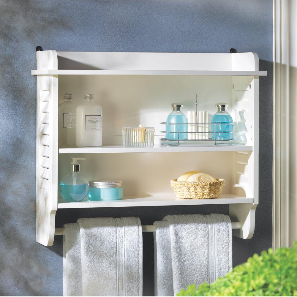 Nantucket Bathroom Wall Shelf Wholesale at Koehler Home Decor