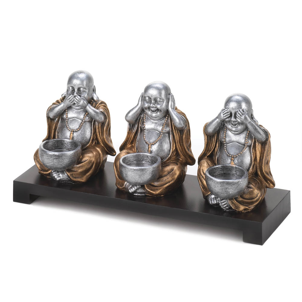 No Evil Buddha Candle Stand Wholesale At Koehler Home Decor