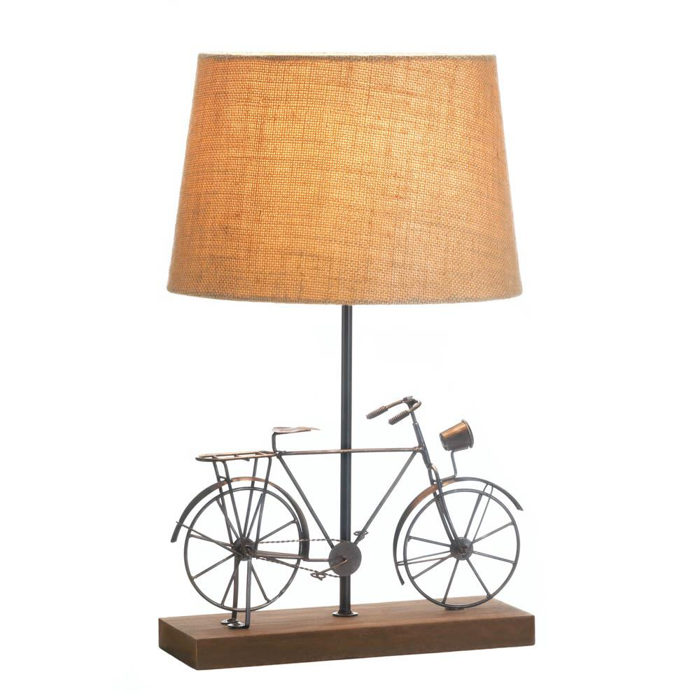 Old fashion bicycle table lamp wholesale at koehler home decor old fashioned bicycle table lamp aloadofball Image collections