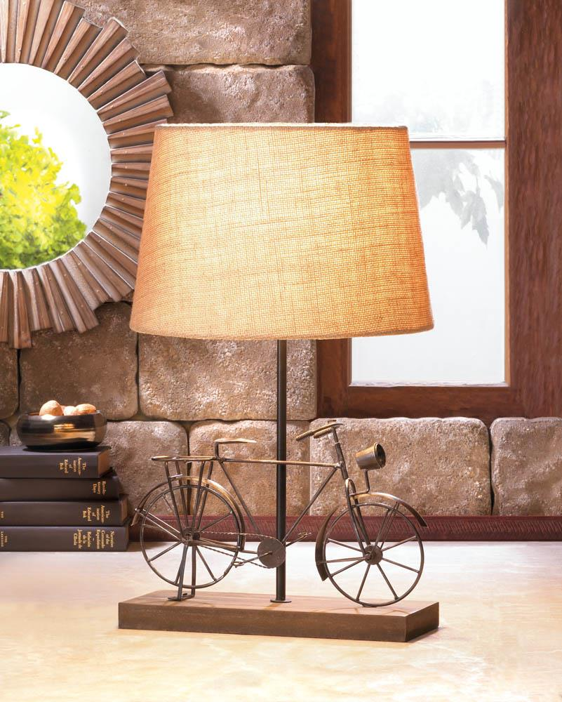 Old fashion bicycle table lamp wholesale at koehler home decor for Koehler home decor