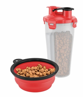 On-The-Go Pet Water & Food Bottle