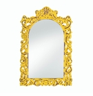 Opulent Distressed Yellow Wall Mirror