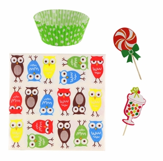 Owl Cupcake Party Pack