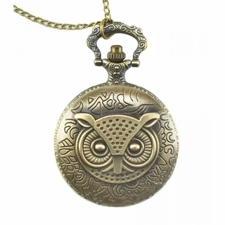 Owl Pocket Watch Necklace