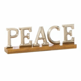 Peace Block Letter Decor