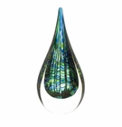Peacock Art Glass Sculpture