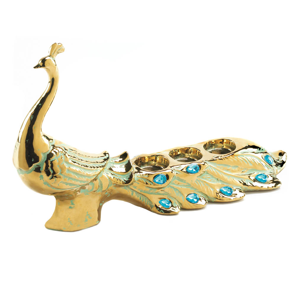 Peacock jewel candleholder wholesale at koehler home decor - Peacock home decor wholesale photos ...