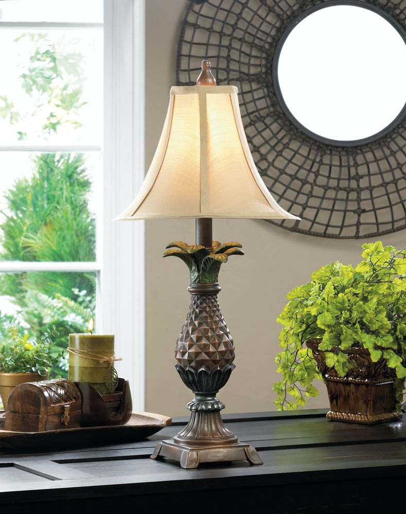 Pineapple table lamp wholesale at koehler home decor for Koehler home decor