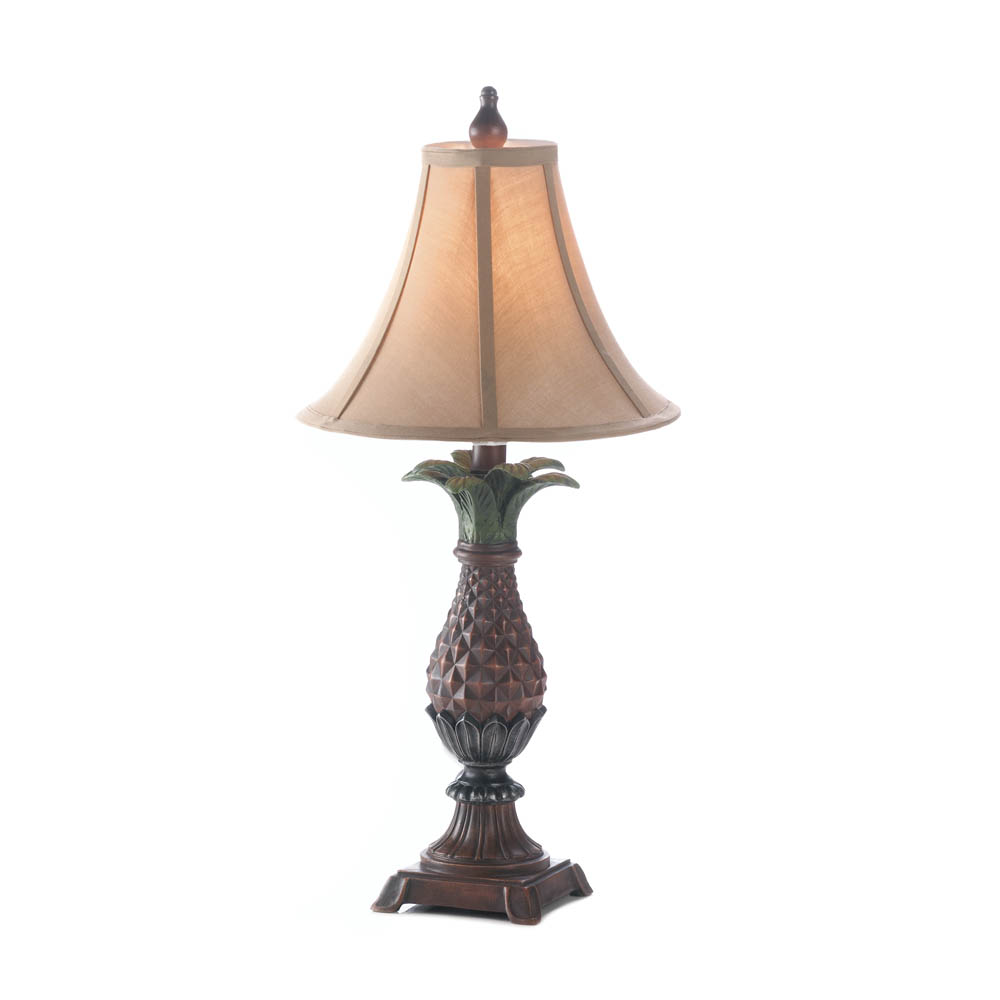 Pineapple table lamp wholesale at koehler home decor for Home decorations wholesale
