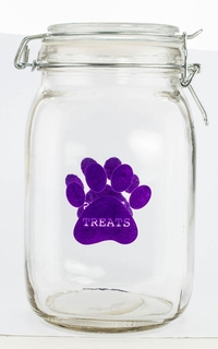 Purple Paw Pet Treat Canister