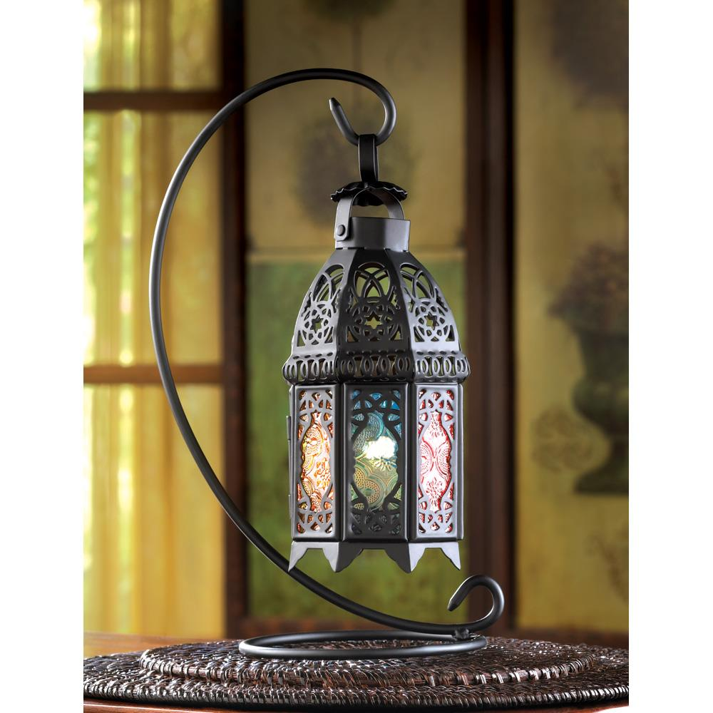 Outdoor Hanging Lanterns With Stand: Rainbow Moroccan Lantern Stand Wholesale At Koehler Home Decor