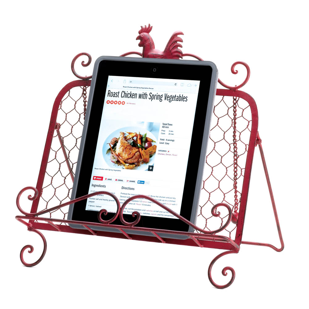 red rooster cookbook stand red rooster cookbook stand