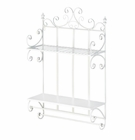 Regal White 2 Tier  Wall Shelf