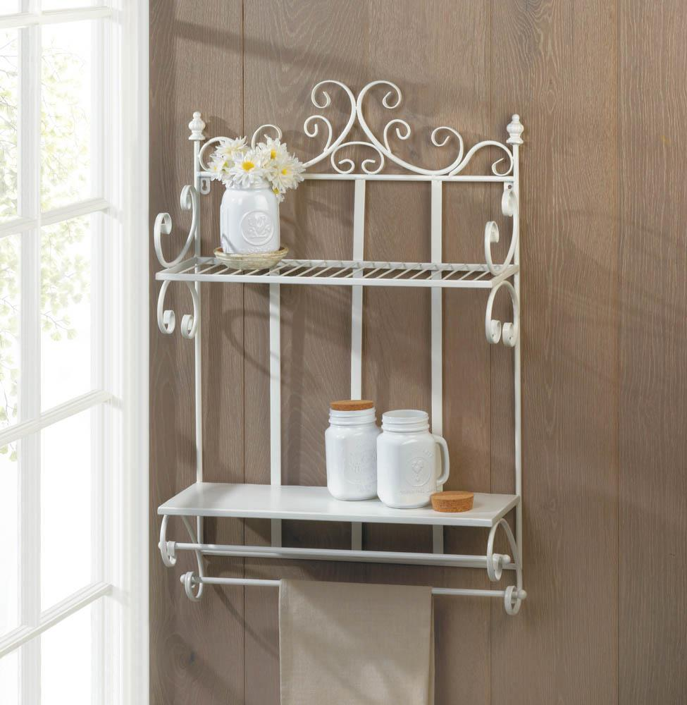 Regal White 2 Tier Wall Shelf Wholesale At Koehler Home Decor