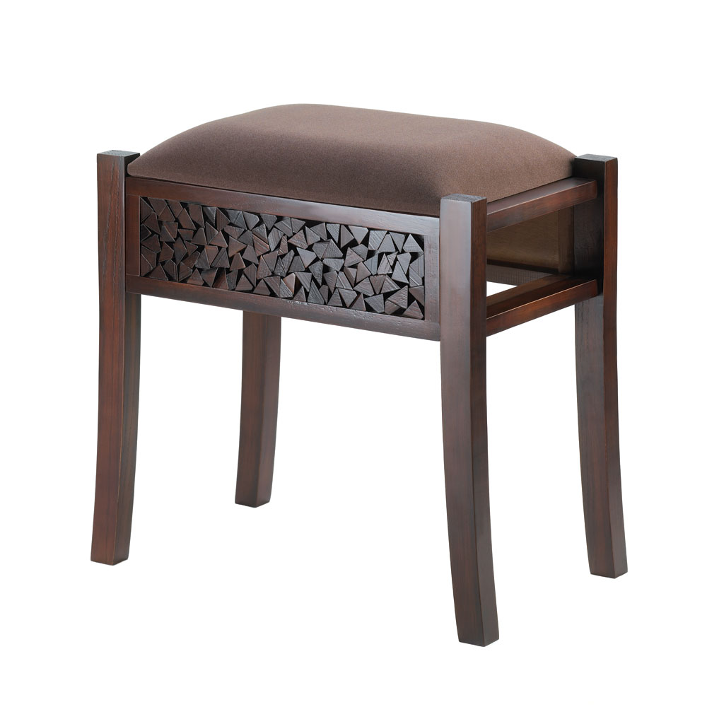 Regent Carved Foot Stool Wholesale At Koehler Home Decor