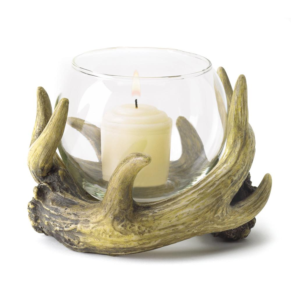 Rustic Wholesale Home Decor: Rustic Antler Candle Holder Wholesale At Koehler Home Decor
