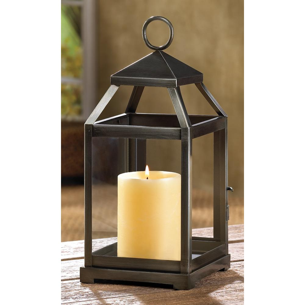 Wholesale Home Interiors: Rustic Silver Contemporary Candle Lantern Wholesale At