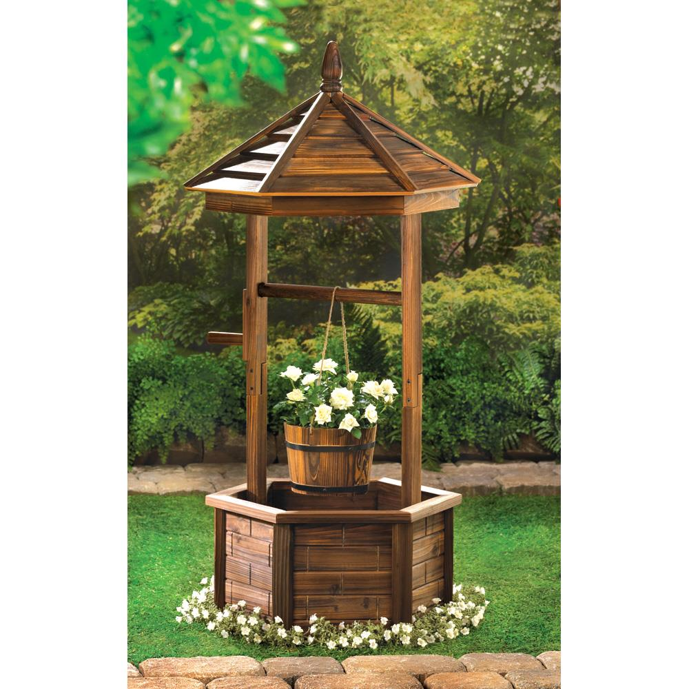 Rustic Wishing Well Planter Wholesale At Koehler Home Decor