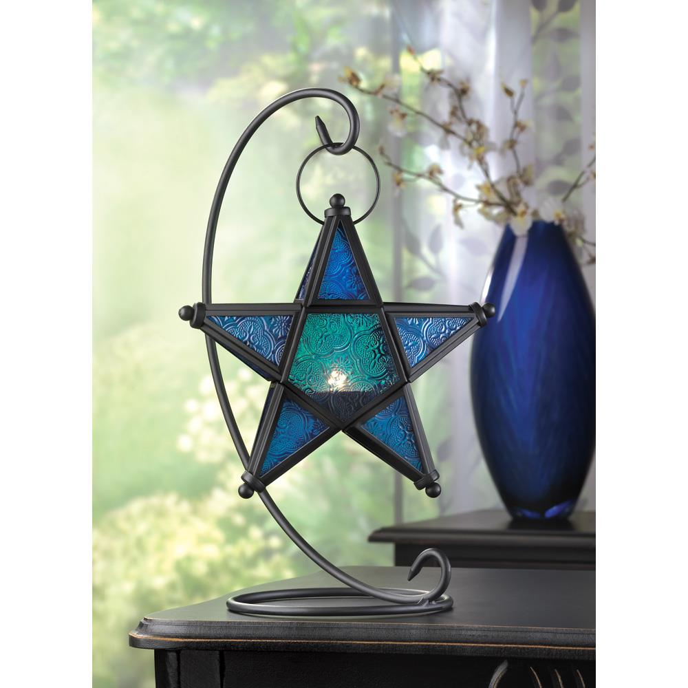 Sapphire star table lantern wholesale at koehler home decor for Koehler home decor