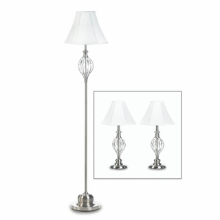 Scrollwork Design Lamp Trio