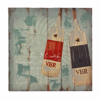Seaworthy Oars Canvas Wall Art