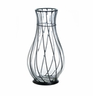Short Glass Metal Vase