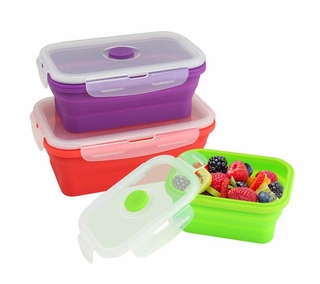 Silicone Stacker Food Container Set
