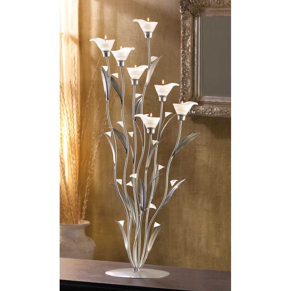 Silver Calla Lily Candle Holder Silver Calla Lily Candle Holder