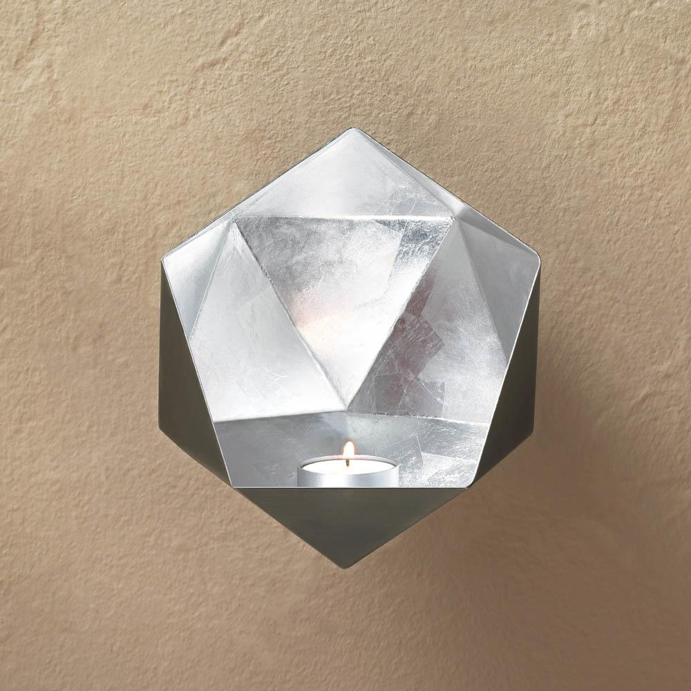 Wall Sconces Silver : Silver Geometric Wall Sconce Wholesale at Koehler Home Decor