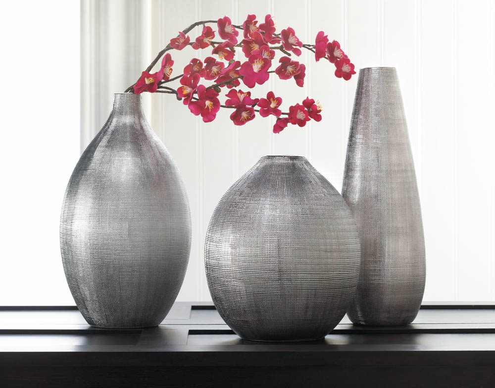Zeal silver tall vase wholesale at koehler home decor - Great decorative flower vase designs ...