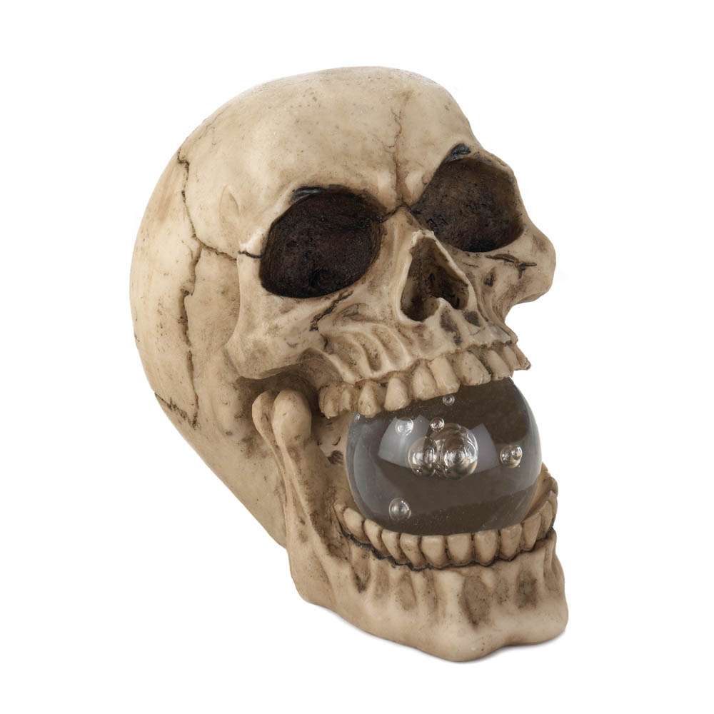 Skull With Lighted Orb Wholesale At Koehler Home Decor
