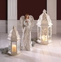 Small Distressed White Lantern