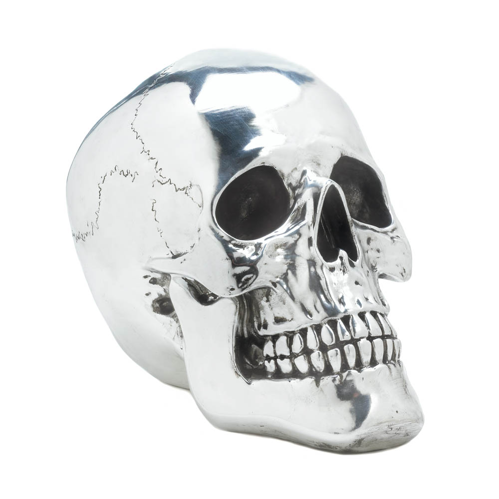 smiling silvery skull wholesale at koehler home decor