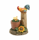 Solar Rotating Rooster Garden Decor