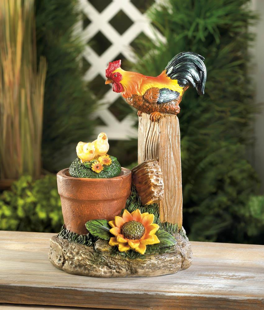 Solar rotating rooster garden decor wholesale at koehler for Wholesale decor