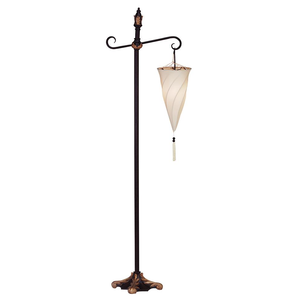 Hanging shade floor lamp wholesale at koehler home decor for Spiral wood floor lamp