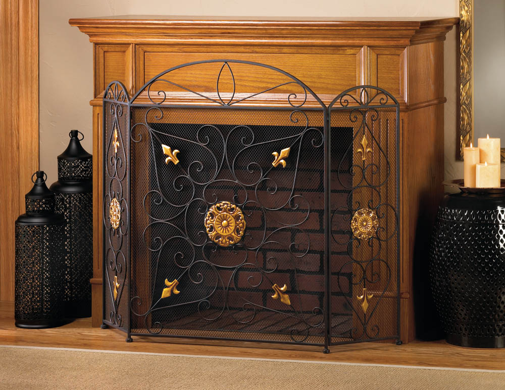 Splendor fireplace screen wholesale at koehler home decor for Koehler home decor