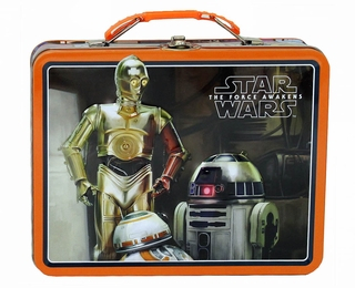 Star Wars Episode Vii Black/Orange Tin Lunch Box