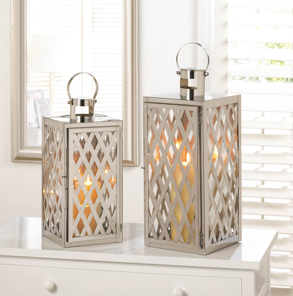 Steel lattice lantern m wholesale at koehler home decor for Wholesale decor