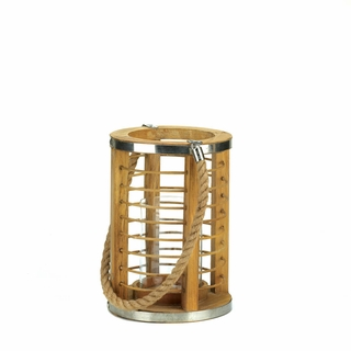 Wooden Strand Candle Lantern