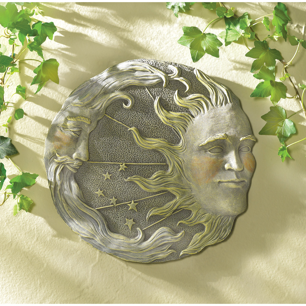 celestial wall plaque wholesale at koehler home decor. Black Bedroom Furniture Sets. Home Design Ideas
